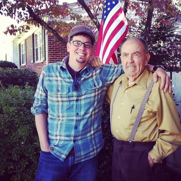Eric Shoemaker and Grandpa Shoemaker
