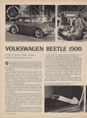 '67 Beetle — Road Track, Road Test