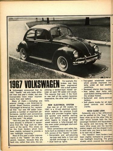 '67 Volkswagen Beetle — More Improvements