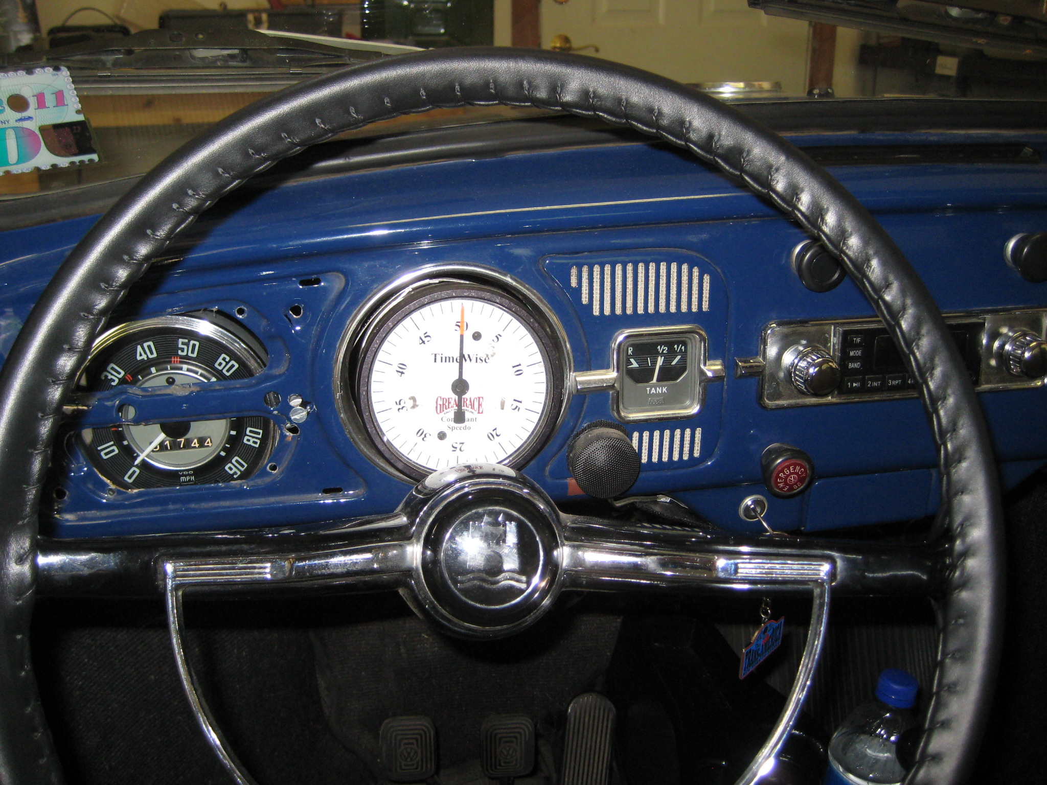 Dashboard with TimeWise speedometer]