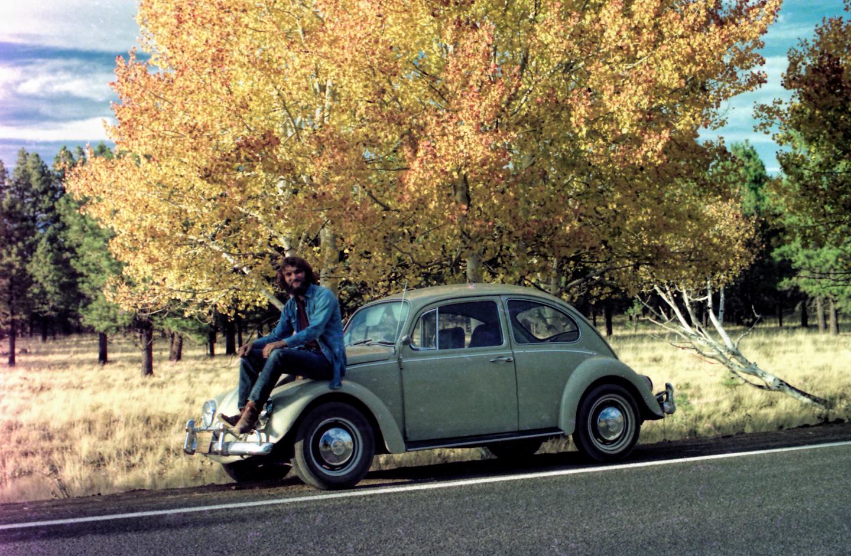 Volkswagen, Me, Autumn Leaves, San Francisco Peaks, Nov '76